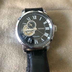 Seiko automatic open face watch